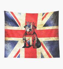British Bulldog Crown Wall Tapestry
