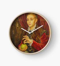 Boy With Apple Clock