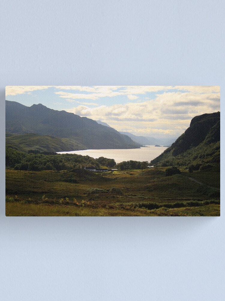 Alternate view of Loch Maree from the road from Gairloch to Inverewe Canvas Print