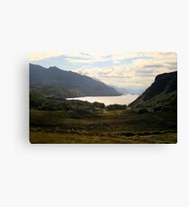 Loch Maree from the road from Gairloch to Inverewe Canvas Print