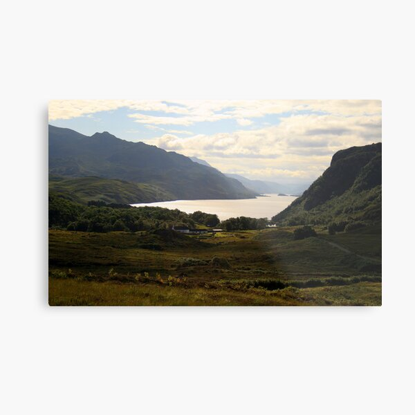 Loch Maree from the road from Gairloch to Inverewe Metal Print