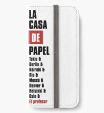 Money Heist iPhone Wallet/Case/Skin