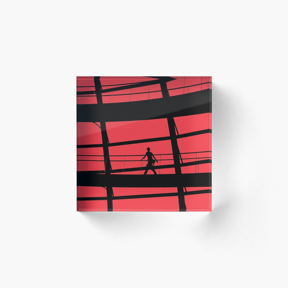 Red Square Acrylic Block