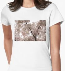 A Cloud of Pastel Pink Cherry Blossoms Celebrating the Arrival of Spring  Womens Fitted T-Shirt