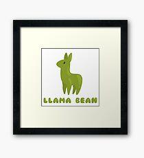 Llama Bean Framed Print
