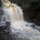 Harmby waterfall in full spate, Yorkshire Dales National Park, UK by Wendy  McDonnell