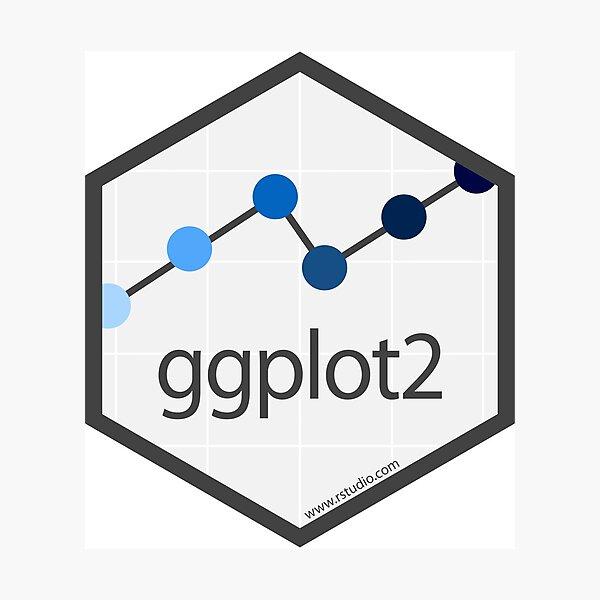 ggplot2 hex logo Photographic Print