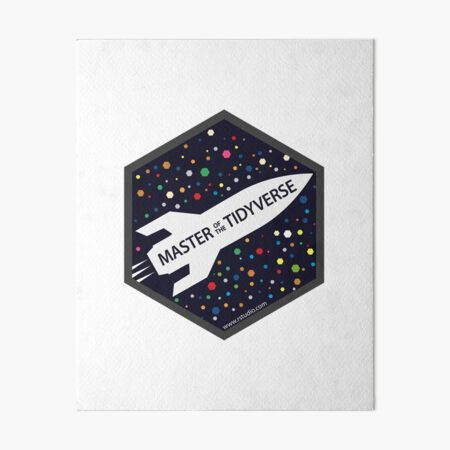 master the tidyverse hex logo Art Board Print