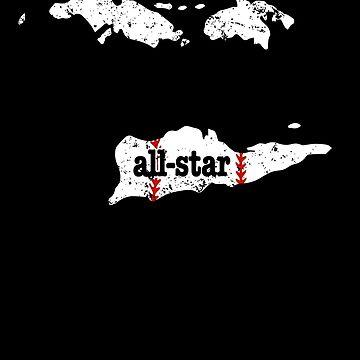 Softball All Star Baseball Shirt US Virgin Islands Shirt by shoppzee