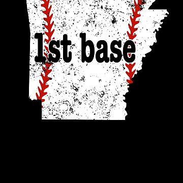 Youth First Base Shirt 1st Base Shirt Arkansas Tee Ball by shoppzee