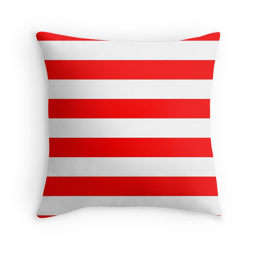 Australian Flag Red and White Wide Cabana Tent Stripe