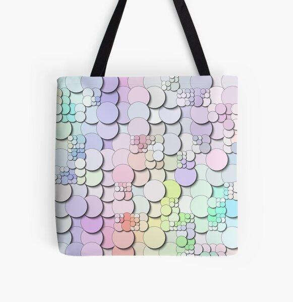 Pastel Circles All Over Print Tote Bag