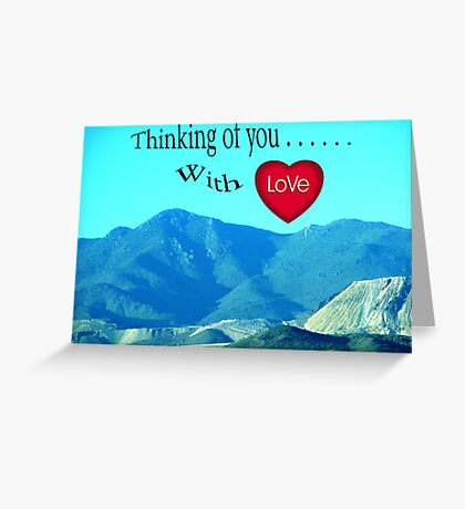 THINGKING OF YOU WITH LOVE Greeting Card