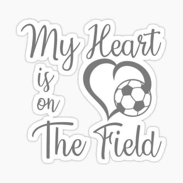 Soccer heart on field Sticker