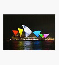 Vivid Sydney Opera House Photographic Print