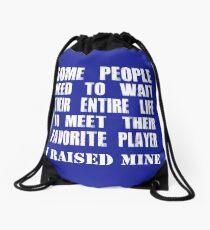 Mom Raised Her Favorite Player - Funny Gift Idea Drawstring Bag