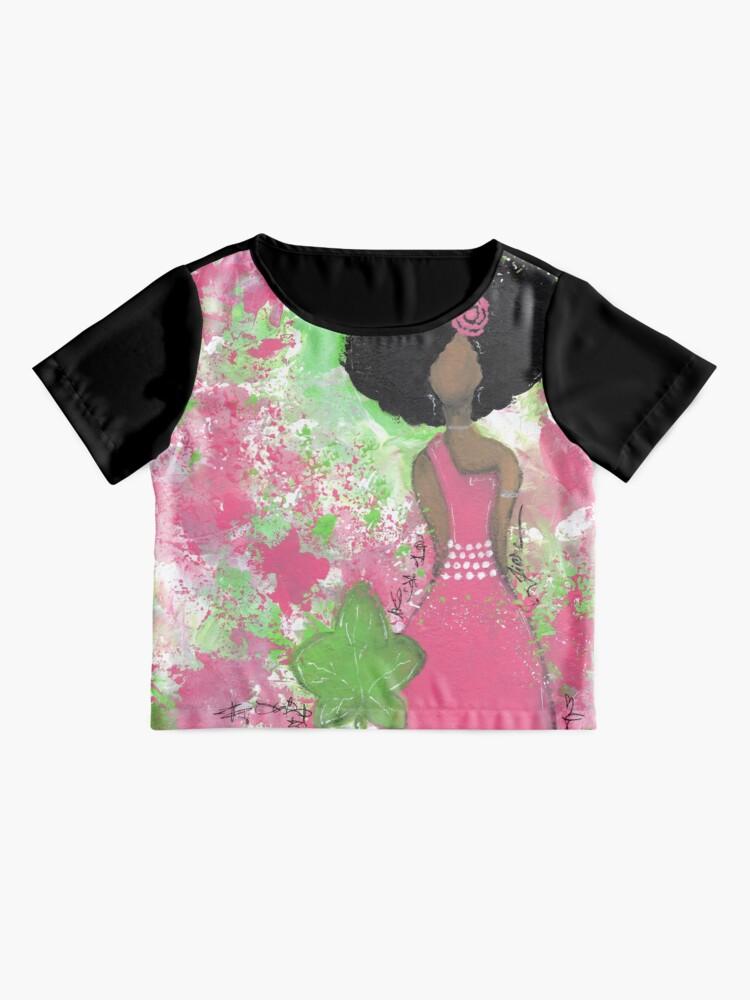 Alternative Ansicht von Tropft in Pink und Green Angel Chiffon Top