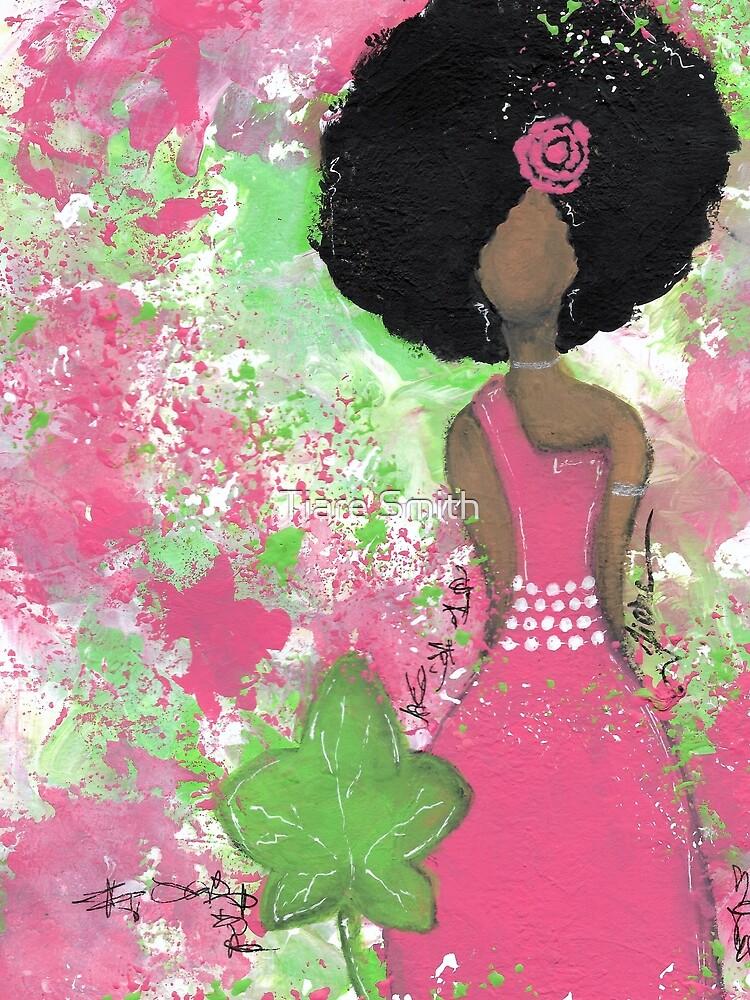 Tropft in Pink und Green Angel von classygirl
