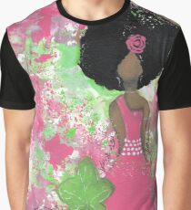 Dripping in Pink and Green Angel Graphic T-Shirt