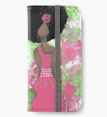 Dripping in Pink and Green Angel iPhone Wallet/Case/Skin