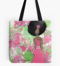 Dripping in Pink and Green Angel Tote Bag