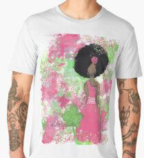 Dripping in Pink and Green Angel Men's Premium T-Shirt