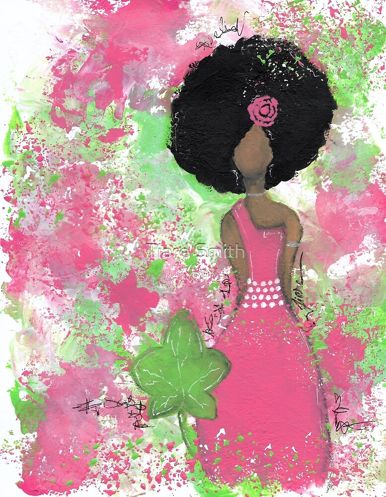 Dripping in Pink and Green Angel by classygirl