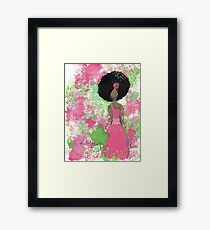 Dripping in Pink and Green Angel Framed Print