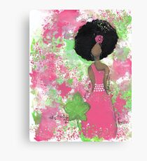 Dripping in Pink and Green Angel Canvas Print