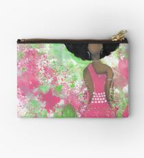 Dripping in Pink and Green Angel Studio Pouch