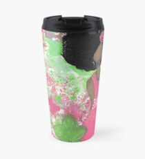 Dripping in Pink and Green Angel Travel Mug