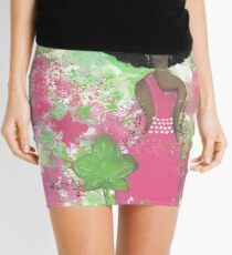 Dripping in Pink and Green Angel Mini Skirt