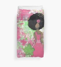 Dripping in Pink and Green Angel Duvet Cover