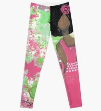 Dripping in Pink and Green Angel Leggings