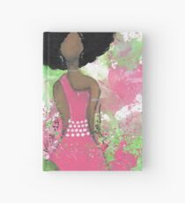Dripping in Pink and Green Angel Hardcover Journal