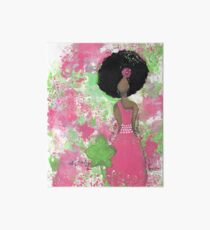 Dripping in Pink and Green Angel Art Board