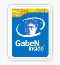 Gaben Inside Sticker - Intel Parody (Lord Gaben Inside) Sticker
