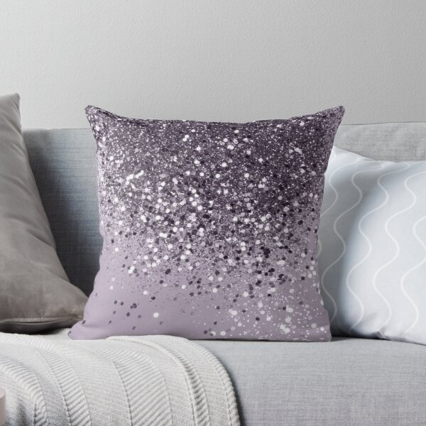 Sparkling Lavender Lady Glitter #2 #shiny #decor #art Throw Pillow