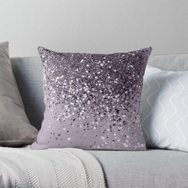 Sparkling Lavender Lady Glitter # 2 # brillante # decoración #arte Cojín