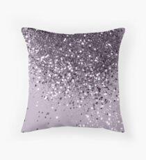 Sparkling Lavender Lady Glitter #2 #shiny #decor #art Throw Pillow
