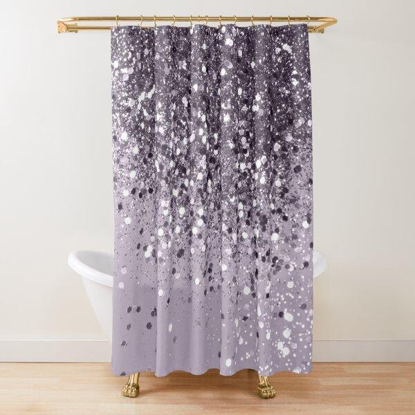 Sparkling Lavender Lady Glitter #2 #shiny #decor #art Shower Curtain