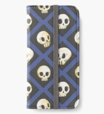 Tiling Skulls 4/4 - Blue iPhone Wallet/Case/Skin