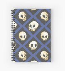 Tiling Skulls 4/4 - Blue Spiral Notebook