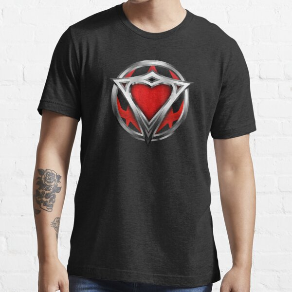 Red heart of steel superhero Essential T-Shirt