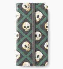 Tiling Skulls 3/4 - Green iPhone Wallet/Case/Skin