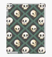 Vinilo o funda para iPad Tiling Skulls 3/4 - Verde