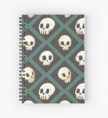 Tiling Skulls 3/4 - Green Spiral Notebook