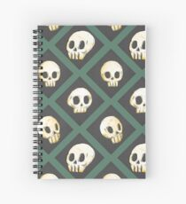 Tiling Skulls 3/4 - Green Spiral Notebook