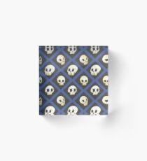 Tiling Skulls 4/4 - Blue Acrylic Block
