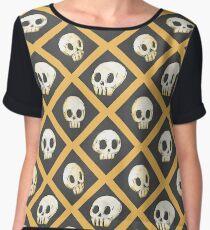 Tiling Skulls 1/4 - Yellow  Chiffon Top
